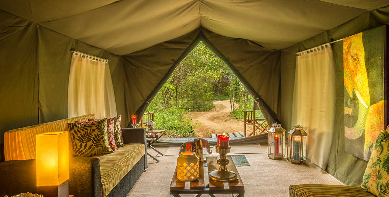 Mahoora elite tents at Yala, Udawalawe and Wilpattu for your luxury accommodation requirements