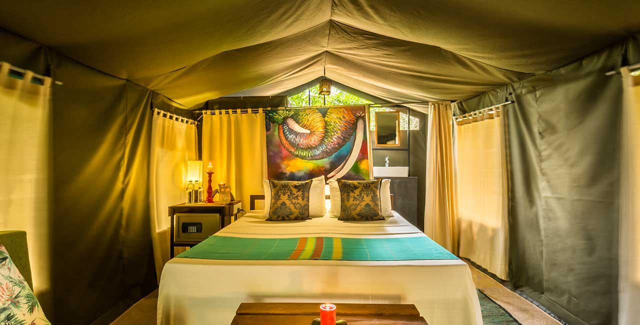 Mahoora Elite tent, Luxury mobile tented safari camps in Sri Lanka