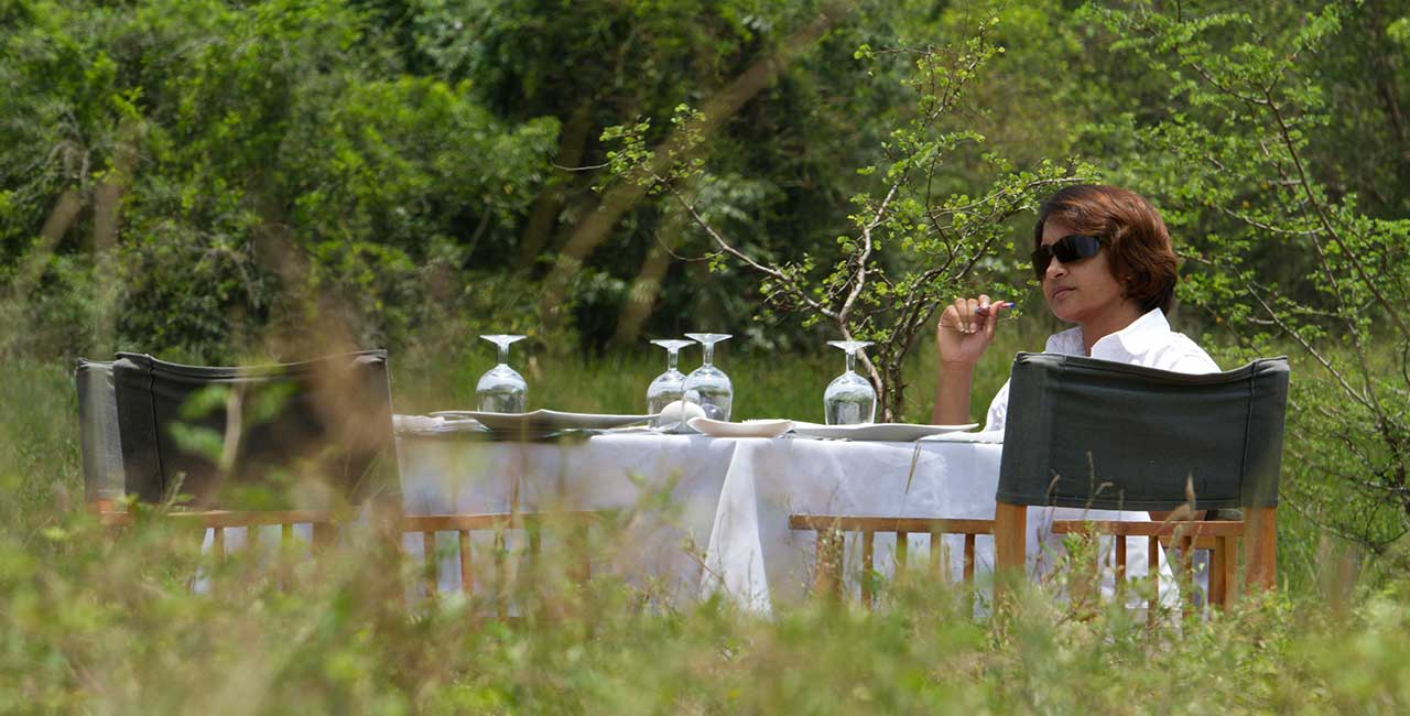 Mahoora dining experience at Wilpattu National Park Sri Lanka